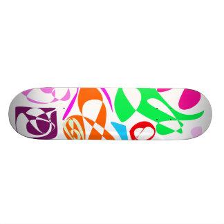 Colorful Lines Skate Deck