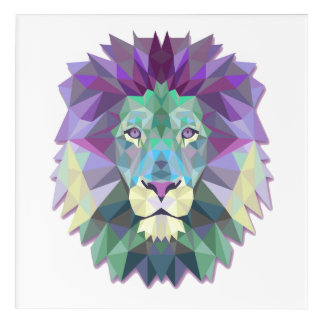 Colorful Lion Acrylic Wall Art