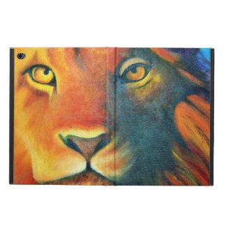 Colorful Lion Head Portrait Oil Painting