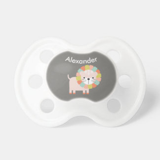 Colorful Lion Personalized Baby Pacifier