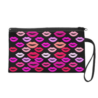 Colorful Lips Wristlet Clutch