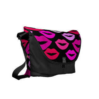 Colorful Lips Messenger Bags
