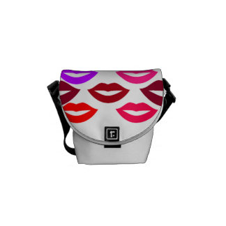 Colorful Lips Courier Bags
