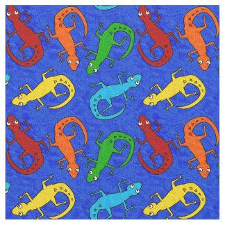 Colorful Lizard Kid's Fabric
