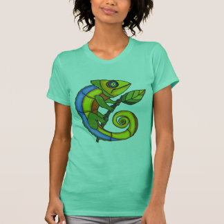 Colorful Lizard on a Branch T-Shirt