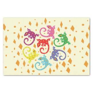 Colorful Lizards Tissue Paper