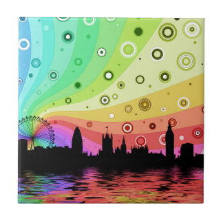 Colorful London Small Square Tile