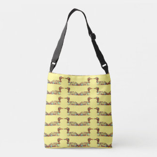 Colorful Loons Pattern Tote Bag
