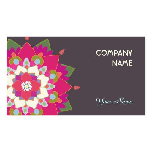 Colorful Lotus Mandala Flower Cute Business Card Templates