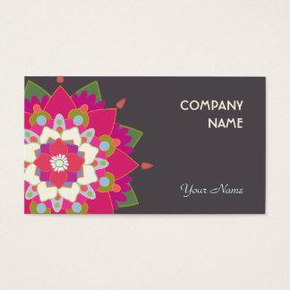 Colorful Lotus Mandala Health and Wellness Business Card
