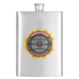 Colorful Loud Music Speaker Dancing Party Hip Flask