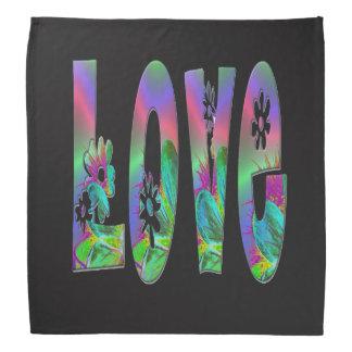 Colorful Love Bandana