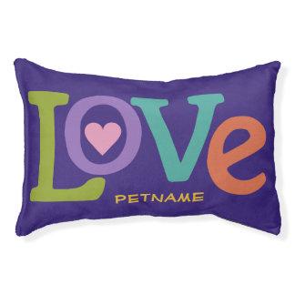 Colorful Love custom dog beds