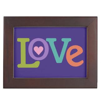 Colorful Love custom keepsake box