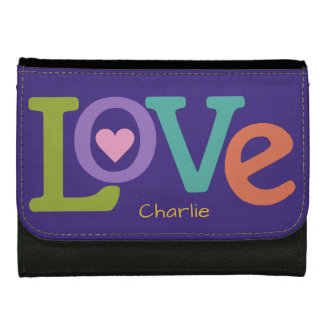 Colorful Love custom name wallets