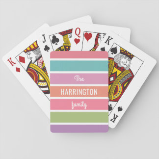 Colorful Love custom text playing cards