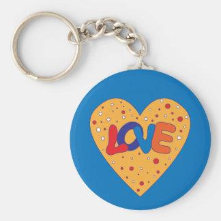 Colorful Love Design Keychain