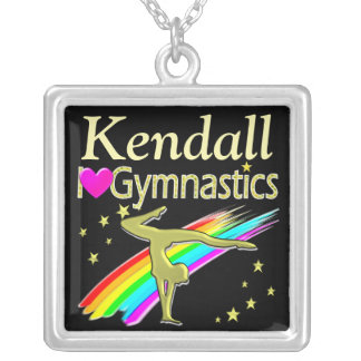 COLORFUL LOVE GYMNASTICS PERSONALIZED NECKLACE