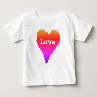 Colorful love heart baby T-Shirt