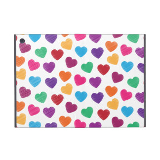 Colorful Love Heart Pattern Valentine's Day iPad Mini Case