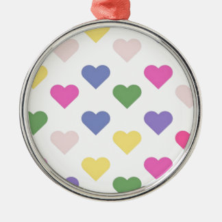 Colorful Love Hearts Christmas Ornament