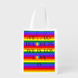 Colorful love is love on rainbow background