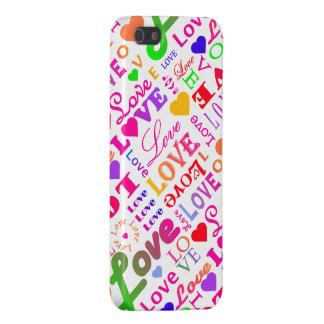 Colorful Love, Love, Love, Love, Love, Love, Love iPhone 5 Case
