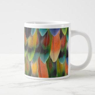 Colorful Lovebird Tail Feathers Giant Coffee Mug