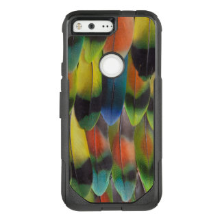 Colorful Lovebird Tail Feathers OtterBox Commuter Google Pixel Case