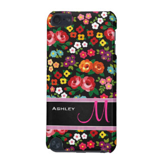 Colorful & Lovely Flowers with Monogram design | iPod Touch (5th Generation) Case