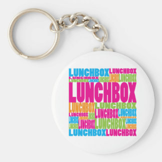 Colorful Lunchbox Basic Round Button Key Ring