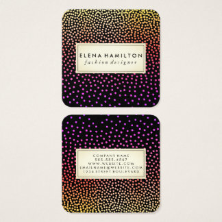 Colorful Luxe Speckled Pattern Square Business Card