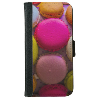 Colorful Macarons Tasty Baked Dessert iPhone 6 Wallet Case
