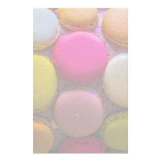 Colorful Macarons Tasty Baked Dessert Stationery Design