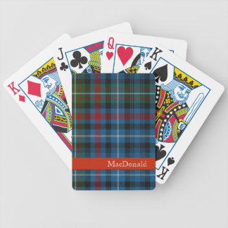 Colorful MacDonald Tartan Plaid Playing Cards