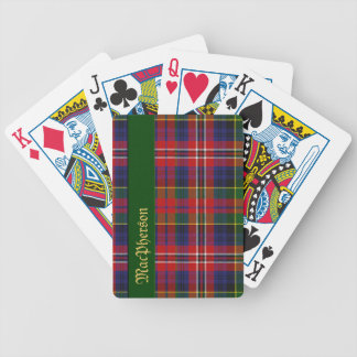 Colorful MacPherson Tartan Plaid Playing Cards