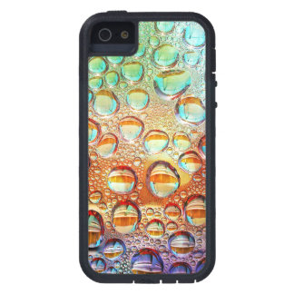 Colorful Macro Water Drops on Glass Photo iPhone 5 Case