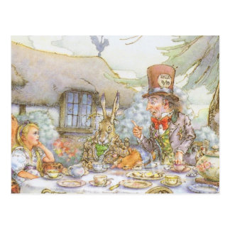 Colorful Mad Hatter s Tea Party Postcards