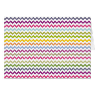 Colorful Made of Zig Zag Stripes Greeting Card