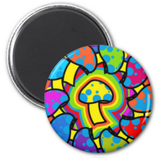 Colorful Magic Mushrooms Magnet
