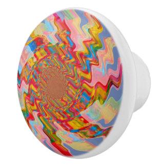 Colorful Magic Star Ceramic Knob