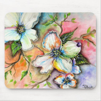 Colorful Magnolias Mouse Pad