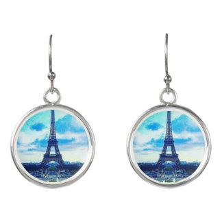 Colorful Majestic Effel Tower Drop Earrings