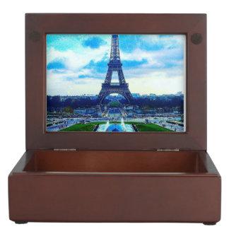 Colorful Majestic Eiffel Tower Keepsake Box