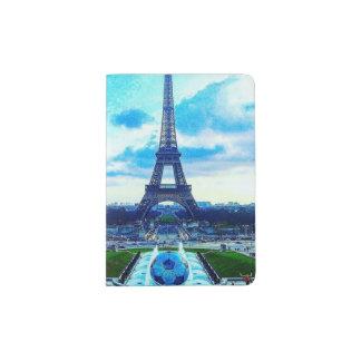 Colorful Majestic Eiffel Tower Passport Book Passport Holder