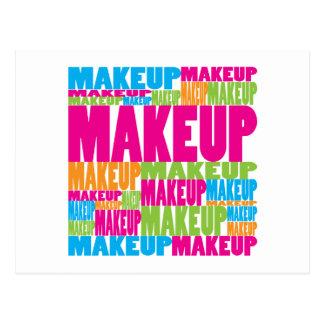Colorful Makeup Postcard