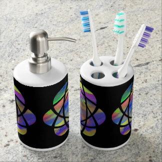 colorful mandala bathroom set