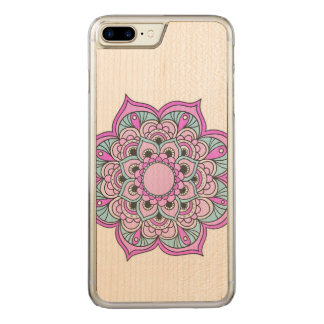 Colorful Mandala Carved iPhone 7 Plus Case