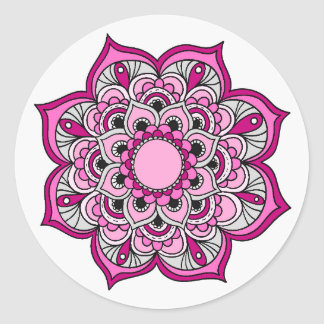 Colorful Mandala Design Classic Round Sticker
