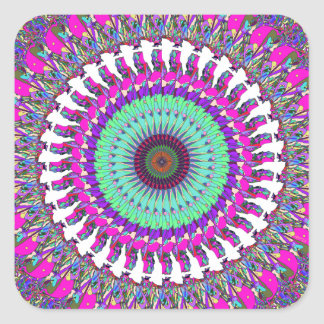 Colorful Mandala of Symmetry Square Sticker